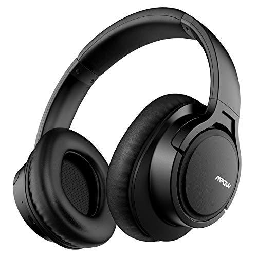 Mpow H7 Cuffie Bluetooth, Cuffie Over Ear Comode, Cuffie Bluetooth Wireless con Microfono CVC6.0, Cuffie Audio Hi-Fi Padiglione Super Morbido per Corso Online/TV/Cellullari/PC