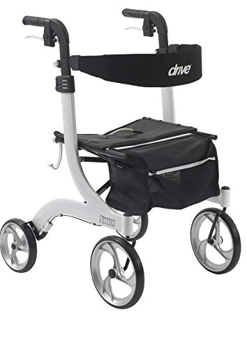 Drive Medical Nitro Euro Style White Rollator Walker, White
