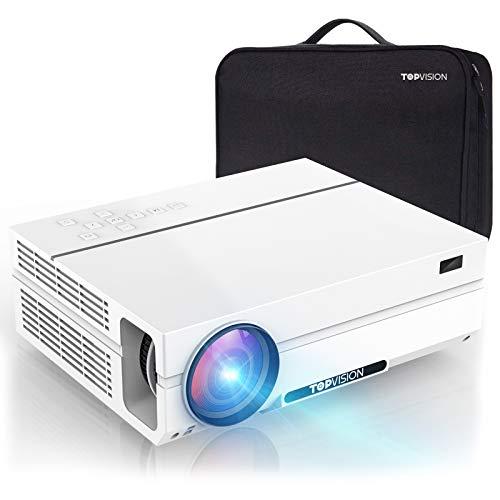 TOPVISION Videoproiettore da 7200 Lumen con 80.000 Ore di Estensione, Proiettore Full HD 1080P Nativo, Supporto 4K 300'...