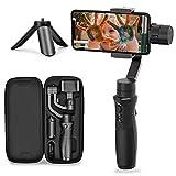 iSteady Mobile Plus Smartphone Gimbal Stabilisateur avec 3-Axis et Payload 280g et Panning 600°Rotation équipement Vlog pour iPhone Gimbal/Samsung/Huawei et Plus (Noir)