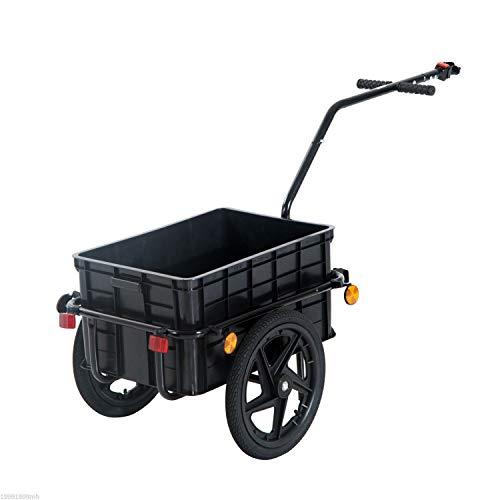 Aosom Double Wheel Internal Frame Enclosed Bicycle Cargo Trailer - Black