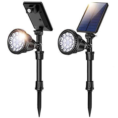 JSOT Luce Solare Led Esterno,18 LED Luci Solari Esterno Lampade Solari Giardino con Sensore di...