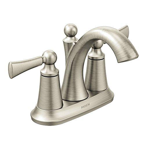 Moen 4505BN Wynford Two-Handle Centerset High Arc Bathroom...