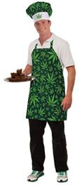 Forum Novelties Men's Cannabis Costume Baker's Hat and Apron