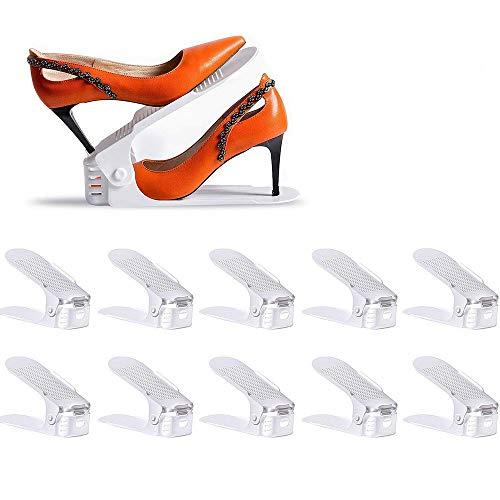 LOBKIN Set de 10pcs de Organizadores Ajustables de Zapatos...