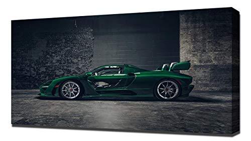 Lilarama 2019 McLaren Senna Carbon Theme by MSO V5 - Canvas Art Print - Wall Art - Canvas Wrap