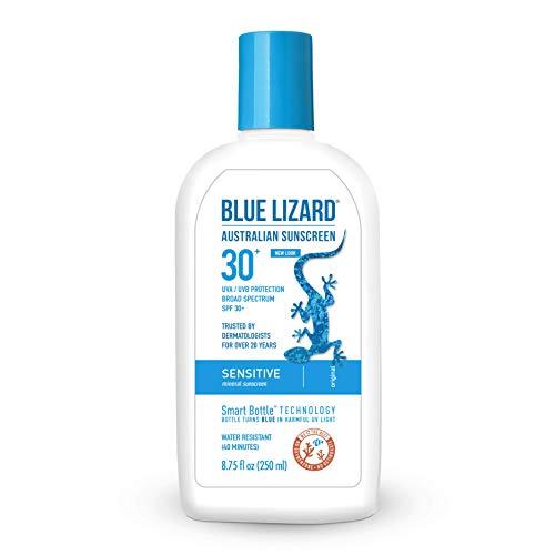 Blue Lizard Sensitive Mineral Sunscreen  No Chemical Actives  SPF 30+ UVA/UVB Protection, 8.75 oz