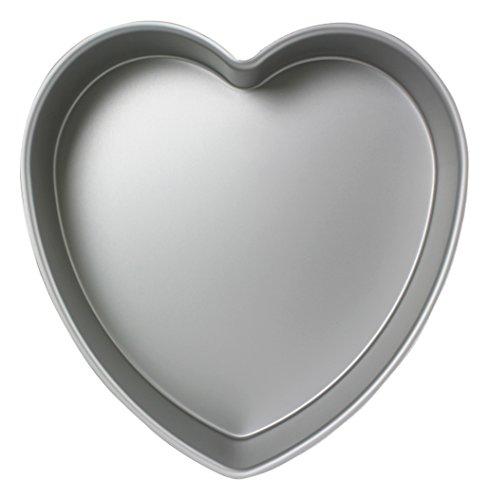 PME HRT063 Teglia Professionale a Forma di Cuore, Alluminio, Argento, 15.3 cm