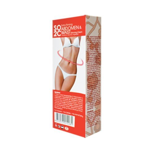 Anti Cellulite Remover Cream by SO2C | All-Natural Anti-Cellulite & Skin Firming, Tightening, Toning, Slimming & Thermogenic Cream | Tightening and Slimming for Hips, Waist and Abdomen | Set of 1 3