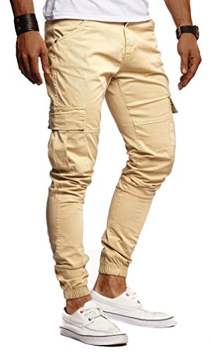 Leif Nelson Herren Hose Jeans Jeanshose Chino Cargo Chinohose Jogger...