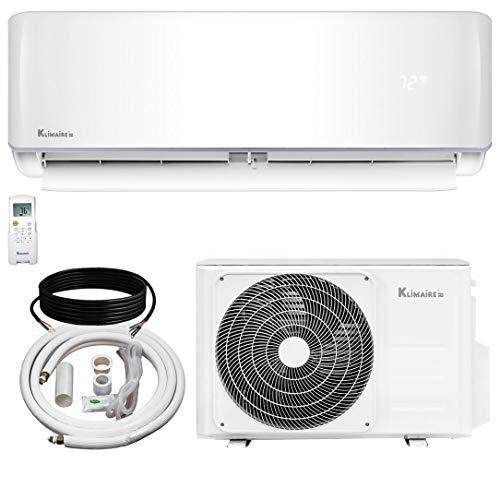 Klimaire 12,000 KSIV 19 SEER Ductless Mini-Split Inverter Air Conditioner Heat Pump System with 15-ft Installation Kit 208/230V