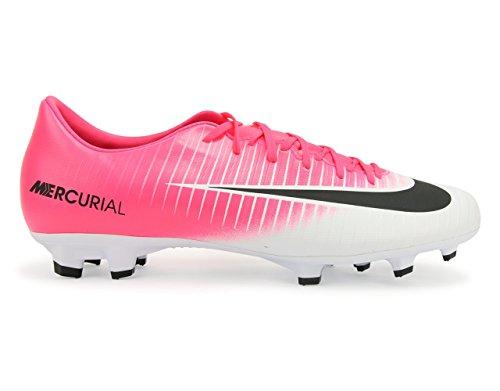 Nike Mercurial Victory VI Fg   Voor snelle buitenspelers   Soepele synthetische bovenkant   Met uitneembare EVA binnenzool   Noppenzool geschikt voor natuurlijk gras   Optimale balcontrole   Kleur: Zwart/Fuchsia
