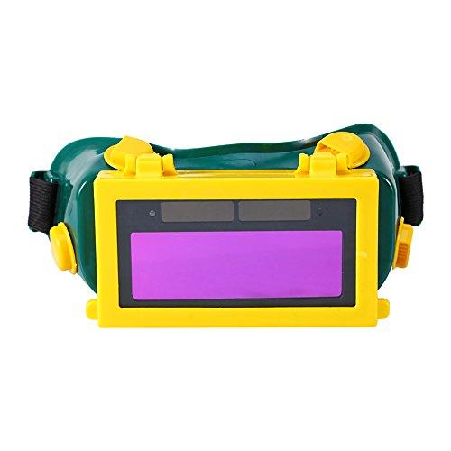 自動遮光 溶接ゴーグル 溶接メガネ 溶接マスク 保護 眼鏡 フルオート ソーラー 超軽量 ハンズフリー 自動感光式 遮光速度1/25000s