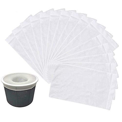 Jiusion Confezione da 30 calzini da piscina, piscina perfetta e risparmio di acqua per filtri, cesti e pacchetto di scrematori
