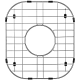 Serene Valley Sink Protector Grid 11-11/16' x 13-3/16', Centered Drain with Corner Radius 3-1/2', 304 Stainless Steel Material NLW1311C