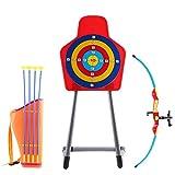 deAO Ensemble de tir à l'arc pour Enfants avec Un Arc, des flèches, Un carquois et Un Support pour Cible Inclus - Grand Jeu de Jardin en Plein air