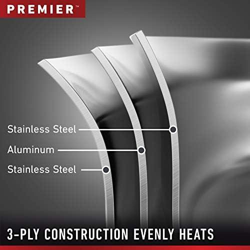 Calphalon Premier Stainless Steel Pots and Pans, 11-Piece Cookware Set