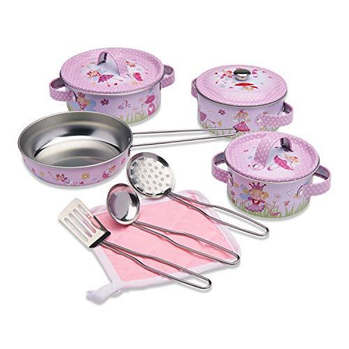 Wobbly Jelly - Set da Cucina Fatina per Bambini - Set da 11 Pezzi di pentole e padelle Giocattolo per Bambini - Accessori da Cucina Giocattolo