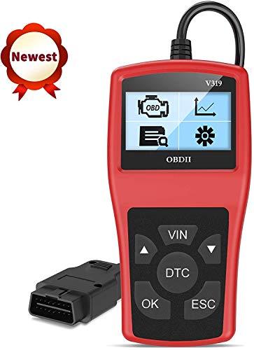 OBD2 Scanner OBD II Auto Outils de Diagnostic Lire et Effacer Les Codes d'Erreur du Moteur Détecter Facilement Dysfonctionnement du Moteur et Batterie pour Toutes Voitures avec Mode OBD2/EOBD/CAN