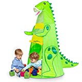 Kids Play Tents, T-REX Dinosaur Tents for Boys Pretend Play Game Props, Easy Assemble Durable Folding Tent with Carrying Bag, Best Gift to Children Age 3+ (60.5' H x 31.5' W)