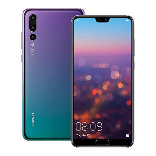 Huawei P20 Pro (CLT-L29) 6GB / 128GB 6.1-inches LTE Dual SIM Factory Unlocked - International Stock No Warranty (Twilight)