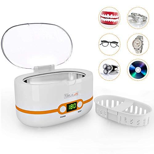 Pulitore ad Ultrasuoni, TACKLIFE MUC02 Lavatrice ad Ultrasuoni Professionale, 600ML, 42000Hz, 35W,...