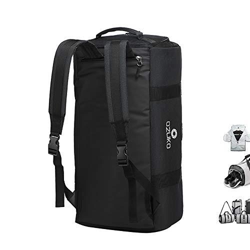 OZUKO Gym Bag Backpack, 4 in 1 Carry-on Garment Bag Large Duffel Bag Suit Travel Bag Weekend Bag Flight Bag Overnight Bag with Shoes Compartment (Black)