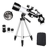 Télescope Astronomique Zoom HD 400/70 mm Plage de Grossissement Elevé...