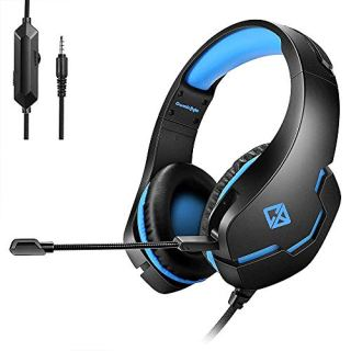 (Renewed) Cosmic Byte Stardust Wired Headset with Mic (Black/Blue)