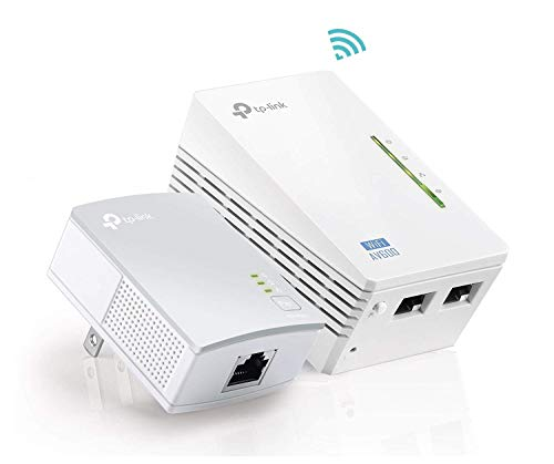 TP-Link AV600 Powerline WiFi Extender - Powerline Adapter with WiFi, WiFi Booster, Plug & Play, Power Saving, Ethernet over Power, Expand both Wired and WiFi Connections (TL-WPA4220 KIT)
