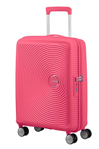 American Tourister Soundbox Spinner Small Expandable Bagaglio A Mano, Rosa (Hot Pink), Spinner S (55...