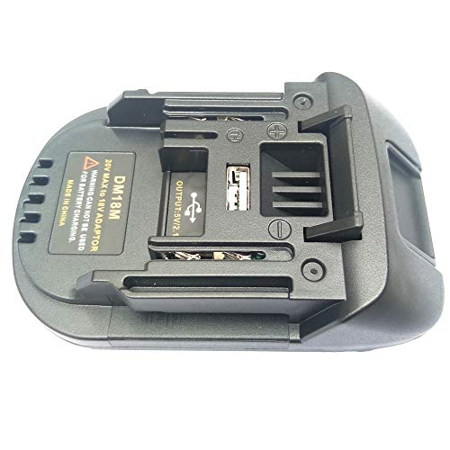DM18M Battery Adapter for Milwaukee for Dewalt 20V Convert to for Makita 18V Lithium BL1830 BL1840 BL1850 14.4V- 18V Battery