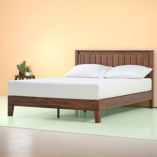 Zinus Vivek 12 Inch Deluxe Wood Platform Bed with Headboard / No Box Spring Needed / Wood Slat...