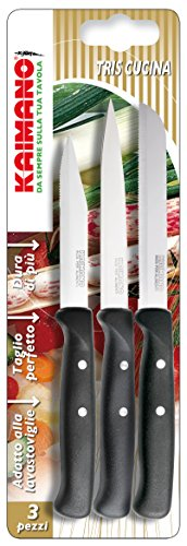 Kaimano KPM030903N Premium Set di Cucina, Acciaio Inossidabile, Nero, 3 unit