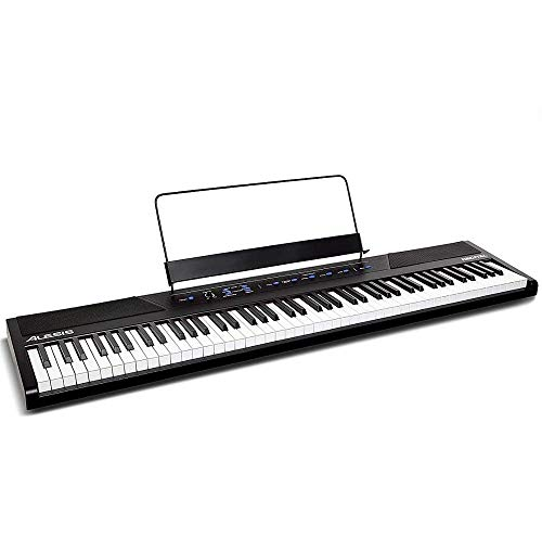Alesis Recital | 88 Key Beginner Digital Piano / Keyboard with Full Size Semi Weighted Keys, Power Supply, Built In Speakers and 5 Premium Voices (Amazon Exclusive)