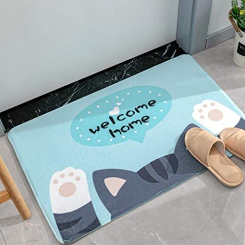 Tappeto Nordico Rettangolare Soggiorno Tavolino Coperta Camera da Letto Tappetino da Comodino Cameretta per Bambini Tappetino da Gioco Lavabile Cartone Animato Blu Hello Kitty