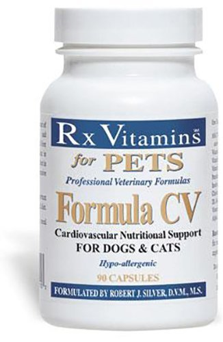 Rx Vitamins for Pets Formula CV for Dogs & Cats - Cardiovascular Nutritional Support - Hypoallergenic Veterinary Formula - 90 Capsules