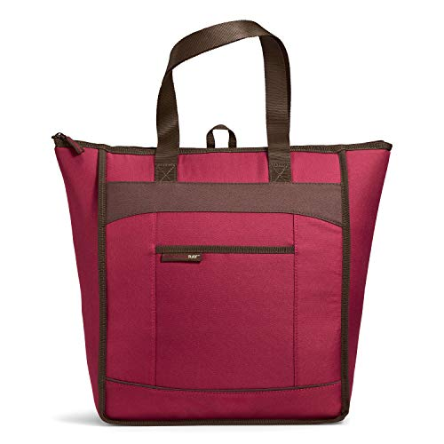 "Rachael Ray, Burg ChillOut Thermal Tote Bag for Cold or Hot Food, Insulated, Reusable, Burgundy, 18.5"" X 6"