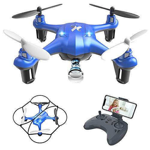 Mini Drone per Principianti e Bambini Drone con FPV Telecamera AT-96 Quadcopter Giocattoli Regalo...