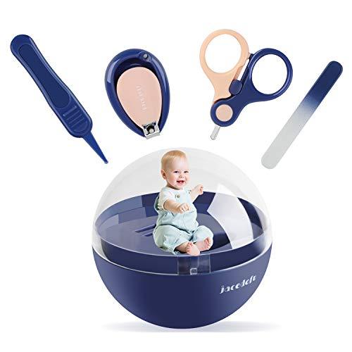 Baby-Nagel-Kit 4-in-1-Upgrade, Baby-Nagelschere mit Safe Lock, Baby-Nagelknipser, Nagelfeile, Pinzette, Baby-Maniküre-Kit und Pediküre-Baby-Nagelpflegeset für Neugeborene, Kleinkinder und Kleinkinder