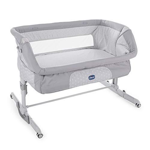 Chicco Next2Me Dream - Cuna de colecho con anclaje a cama, balancín y 11 alturas, color gris (Luna)
