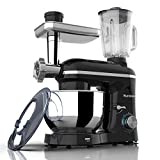 Nurxiovo 3 in 1 Stand Mixer 850W 6 Speed Tilt-Head Kitchen Mixer with 6.5QT Mixer with Stainless...