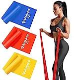 Haquno Bandas Elasticas Fitness, 1.5M Cintas Elasticas con 3 Niveles de Resistencia, Pilates,...