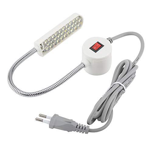 Luce per macchina da cucire 30 LED Lampadina per macchina da cucire Lampada da lavoro a collo d'oca flessibile con base di montaggio magnetica per trapano da banco Tornio(EU)