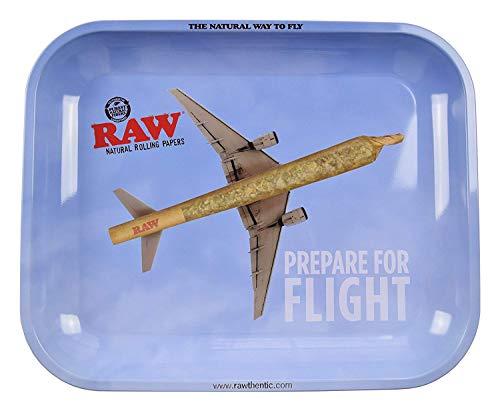 RAW Prepare for Fight - Bandeja de metal para liar cigarrillos (34 x 28 cm)