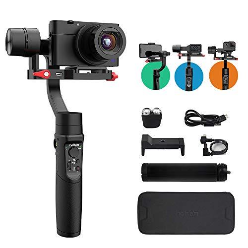 Hohem iSteady Multi 3-Assi Gimbal Stabilizzatore per fotocamera digitale Action Camera e smartphone,Gopro 7/6/5,Video Stabile,8 ore di lavoro,Nuova APP,Rotazione panoramica di 600°