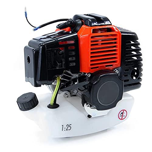 Motore a Scoppio Benzina 2 Tempi 42cc Universale monocilindrico Raffreddamento ad Aria per decespugliatore rasaerba Tosaerba potatore, avviamento a Strappo
