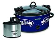 Serves 7+ people 6-quart capacity Travel-friendly locking lid HIGH/LOW cook settings, plus WARM setting Removable oval stoneware Dishwasher-safe stoneware and glass lid Recipes included Bonus 16-ounce Little Dipper Food Warmer