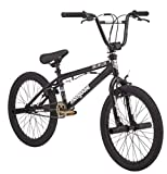 Mongoose Brawler Freestyle BMX Bike, 20-inch Wheels, pegs, Boys, Girls, Black