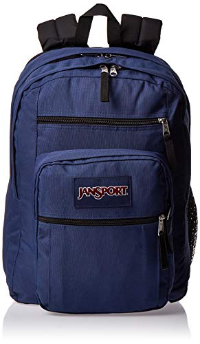 JanSport Big Student Backpack - 15-inch Laptop School Pack, Navy